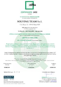 Certificato Qualità 2016
